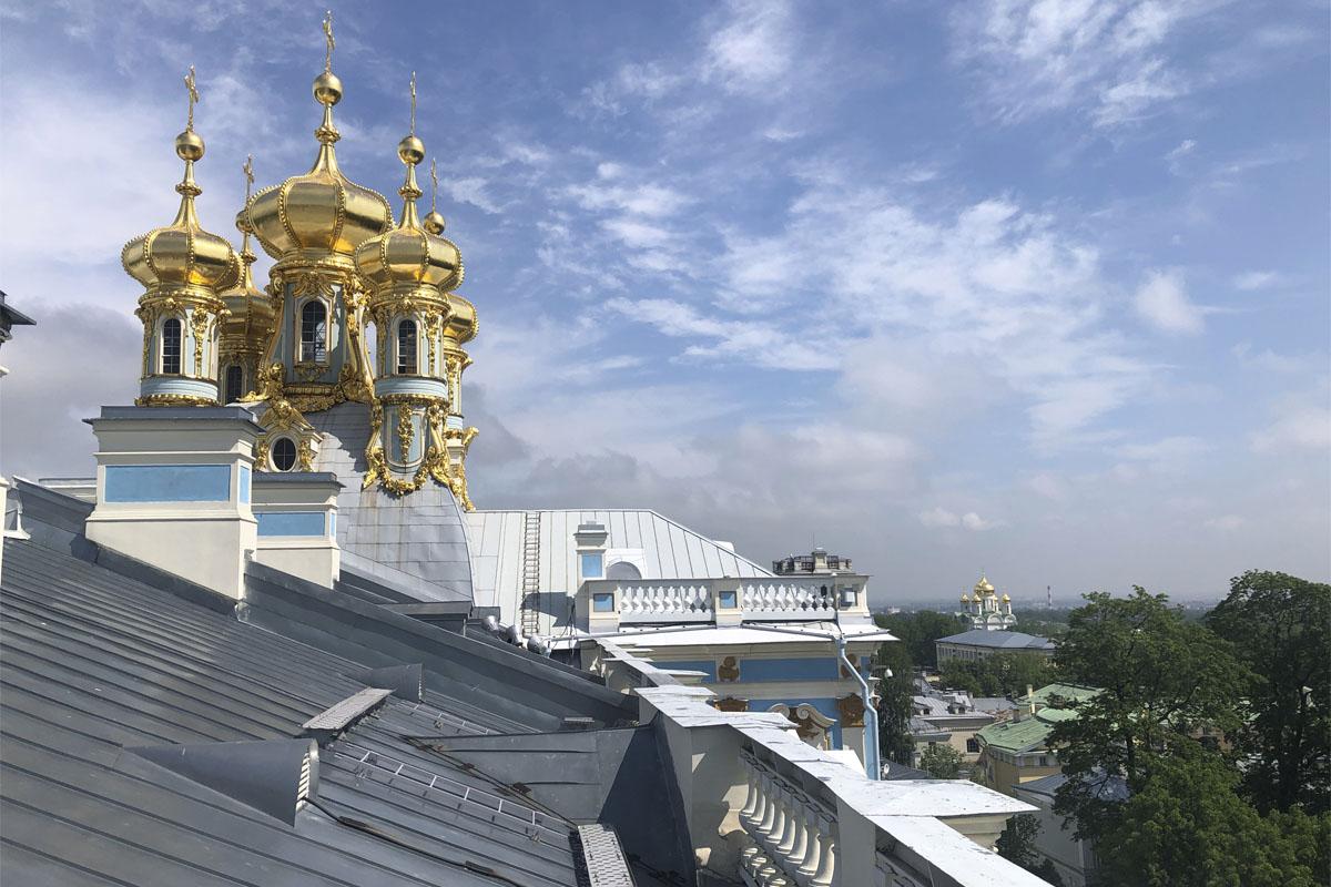 Обогрев кровли Екатерининского Дворца